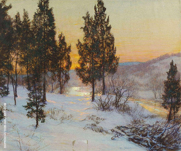 Winter Sundown Painting By Walter Launt Palmer - Reproduction Gallery