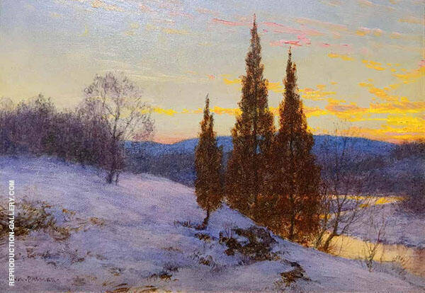 Winter Sunset Painting By Walter Launt Palmer - Reproduction Gallery