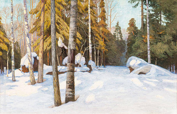 Winter Woodlands Painting By Walter Launt Palmer - Reproduction Gallery