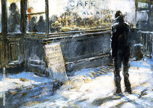 All Night Cafe 1900 By Everett Shinn