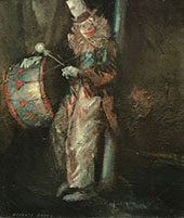 Clown with Drum c1940 By Everett Shinn