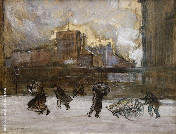 Cooper Union 1903 Painting By Everett Shinn - Reproduction Gallery