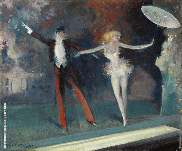 Curtain Call Painting By Everett Shinn - Reproduction Gallery