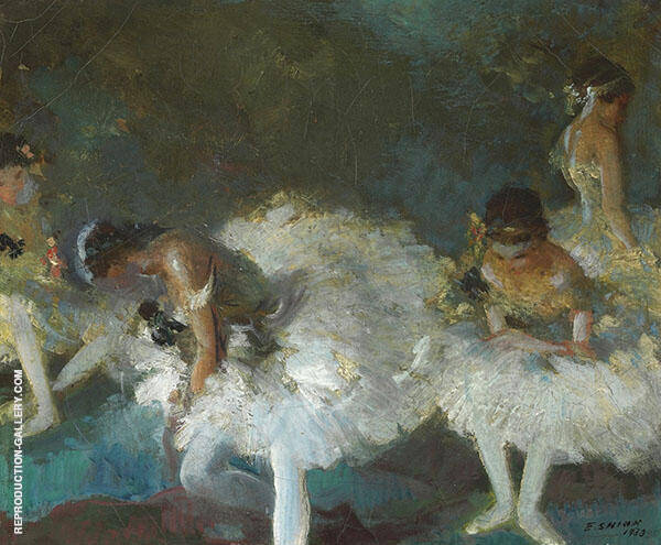 Dancers Backstage 1933 Painting By Everett Shinn - Reproduction Gallery