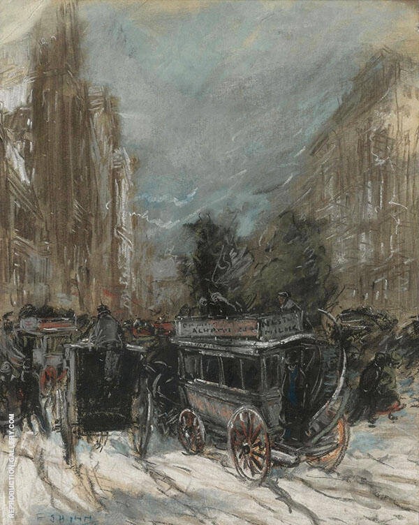Fifth Avenue 1899 Painting By Everett Shinn - Reproduction Gallery