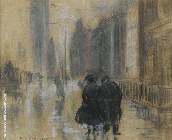 Fifth Avenue 1910 Painting By Everett Shinn - Reproduction Gallery