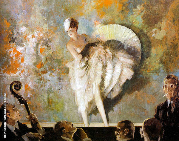 French Vaudeville Painting By Everett Shinn - Reproduction Gallery