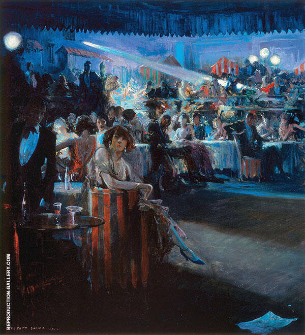 Nightclub Scene 1934 Painting By Everett Shinn - Reproduction Gallery