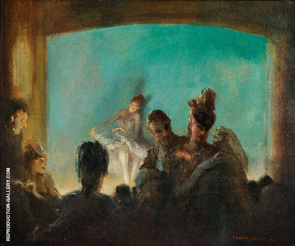 Paris Theate Painting By Everett Shinn - Reproduction Gallery