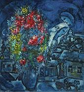 Le Village Bleu By Marc Chagall