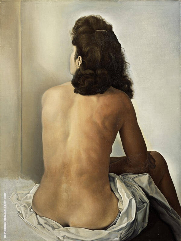 Gala Nude from the Back Looking into an Invisible Mirror 1960 By Salvador Dali