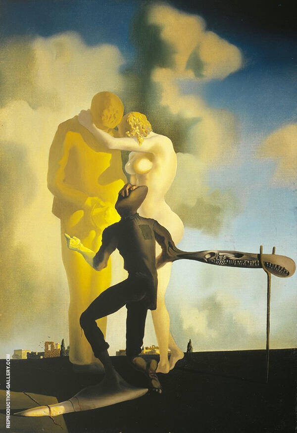 Meditation on the Harp c1932 By Salvador Dali