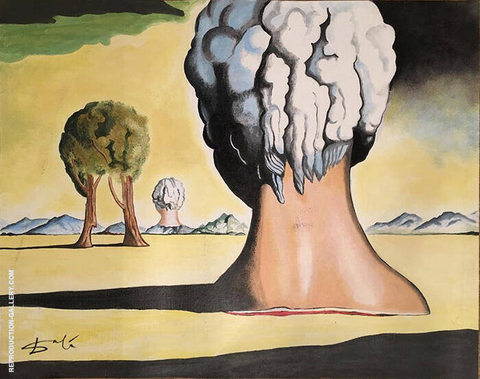 Three Sphinxes of Bikini By Salvador Dali