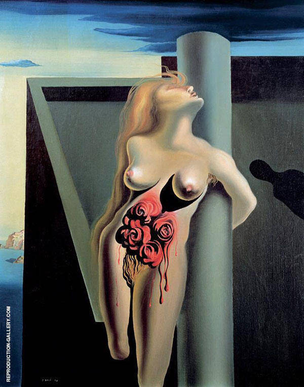 Bleeding Roses By Salvador Dali