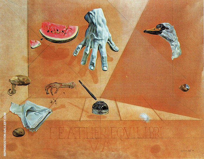 Feather and Equilibrium 1947 By Salvador Dali