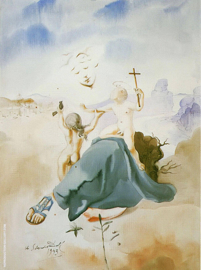 Madonna of the Birds By Salvador Dali