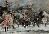 Snowstorm Broadway 1909 By Everett Shinn