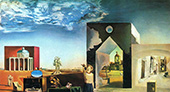 Suburbs of a Paranoiac Critical-Town, Afternoon on the Outskirts of European History 1936 By Salvador Dali