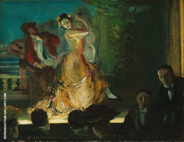 Spanish Music Hall 1902 Painting By Everett Shinn - Reproduction Gallery