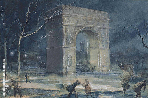 The Arch Washington Square Painting By Everett Shinn