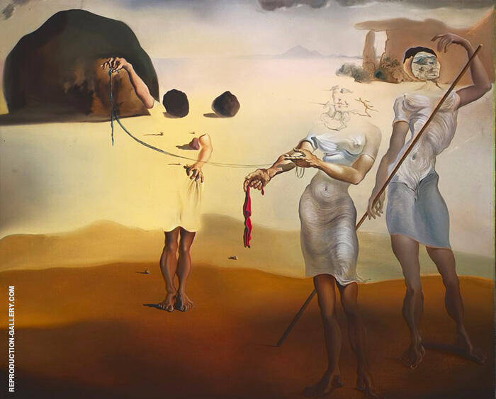 Beach with Three Fluid Graces 1938 By Salvador Dali