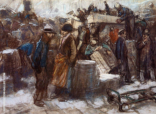 The Docks of New York Painting By Everett Shinn - Reproduction Gallery