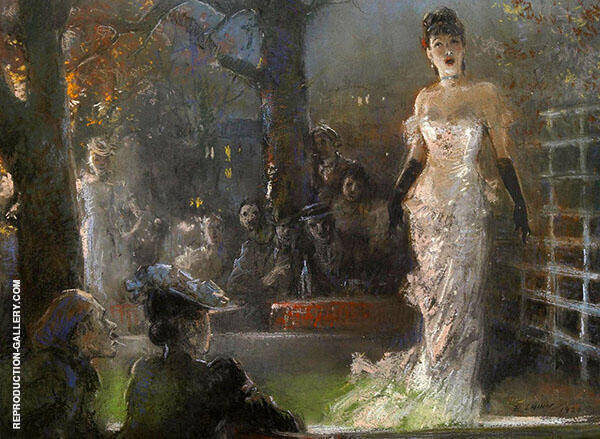 The Singer Painting By Everett Shinn - Reproduction Gallery