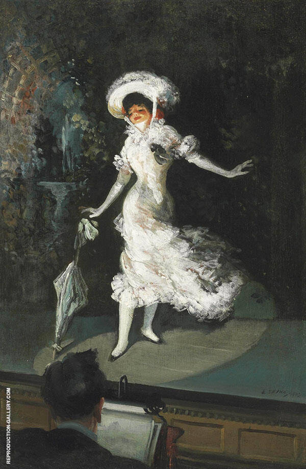 The Stage Singer 1902 Painting By Everett Shinn - Reproduction Gallery