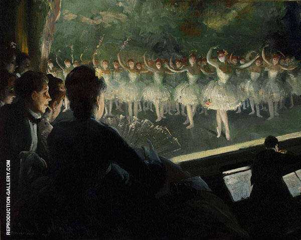 The White Ballet 1904 Painting By Everett Shinn - Reproduction Gallery