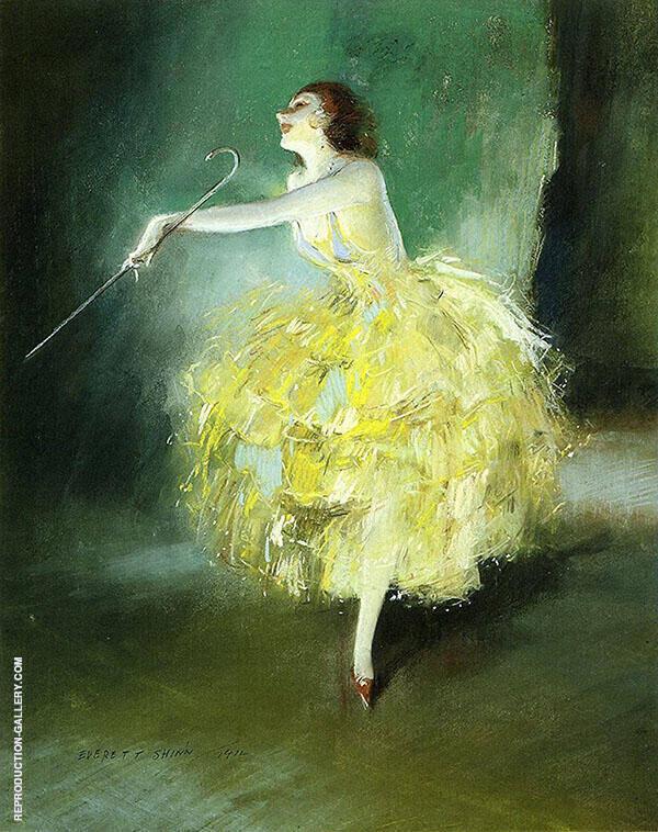 Vaudeville Dancer 1912 Painting By Everett Shinn - Reproduction Gallery