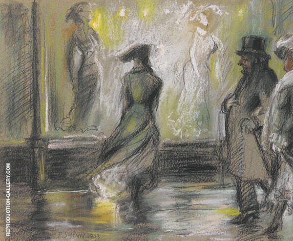Window Shopping Painting By Everett Shinn - Reproduction Gallery