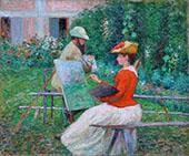 Chez Monet 1888 By John Leslie Breck