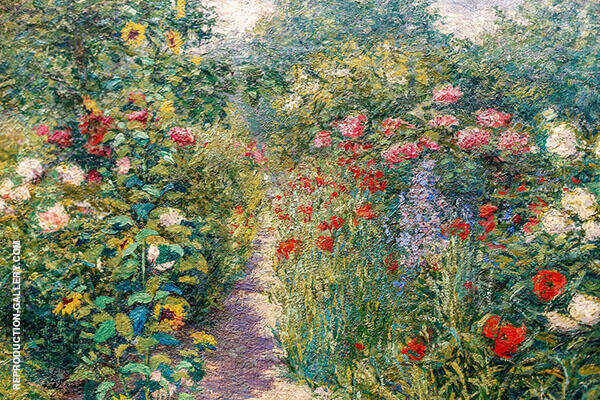 Garden at Giverny c1887 By John Leslie Breck
