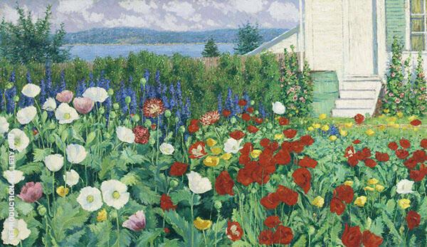 Garden Ironbound Island Maine By John Leslie Breck