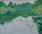 Grey Day on The Charles Virginia By John Leslie Breck