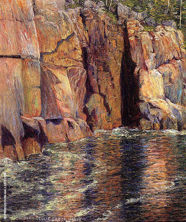 The Cliffs at Ironbound Island Maine 1898 By John Leslie Breck