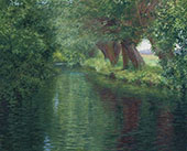 The River Epte Giverny By John Leslie Breck