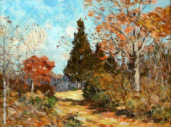 Autumn Flat Rock Hill Old Lyme Painting By Clark Voorhees