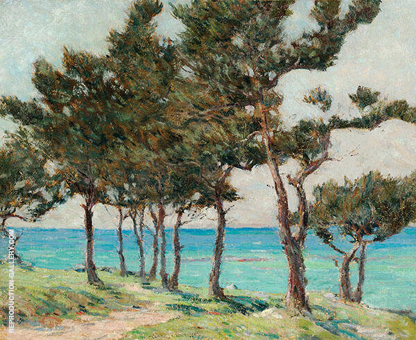 Cedar Trees at Whale Bay Painting By Clark Voorhees - Reproduction Gallery