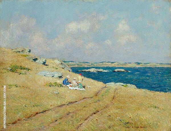 Cliff Walk Newport Rhode Island Painting By Clark Voorhees