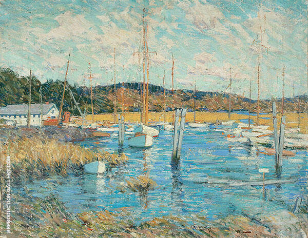 Essex Harbor Painting By Clark Voorhees - Reproduction Gallery