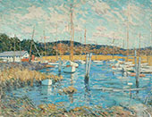 Essex Harbor By Clark Voorhees