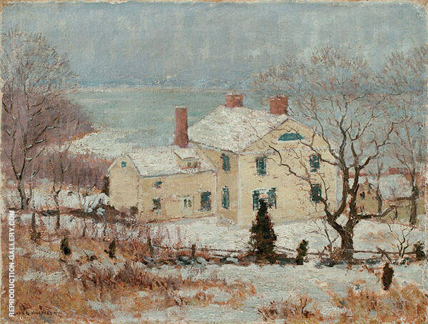 Hartley House Painting By Clark Voorhees - Reproduction Gallery