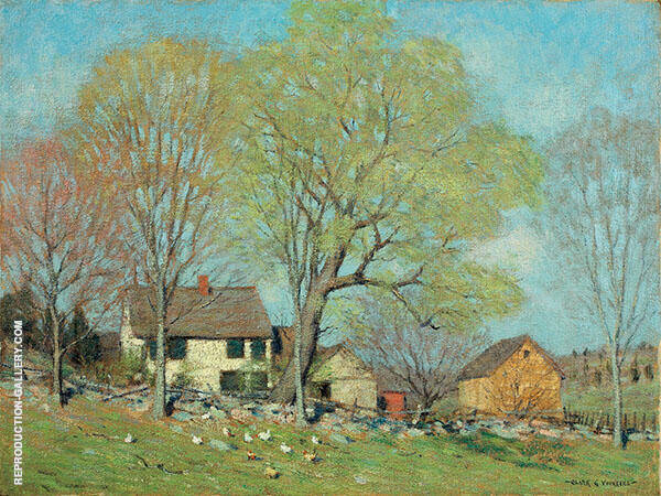 House Old Lyme Final Painting By Clark Voorhees - Reproduction Gallery