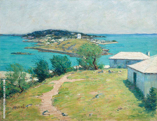 Looking Towards The Dockyard from Somerset Painting By Clark Voorhees