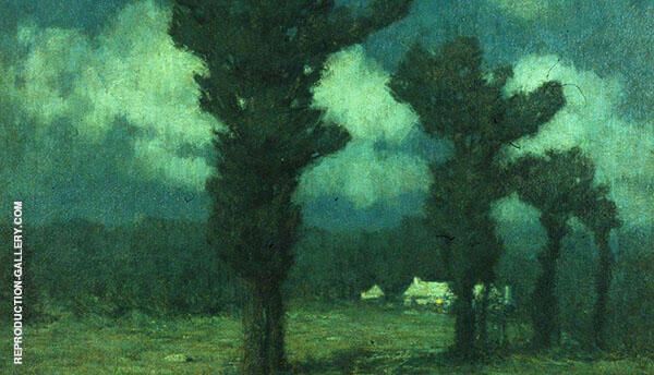 Moonlight Bermuda 1919 Painting By Clark Voorhees - Reproduction Gallery