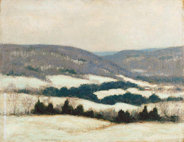 October Mountain Painting By Clark Voorhees - Reproduction Gallery