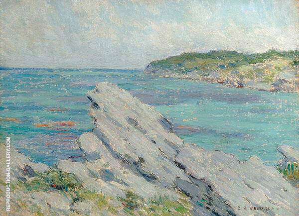 Rock with Water Painting By Clark Voorhees - Reproduction Gallery