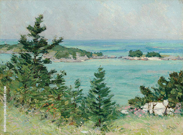 Somerset Parish Islands with Cottage Painting By Clark Voorhees