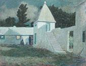 Springfield Courtyard by Moonlight By Clark Voorhees